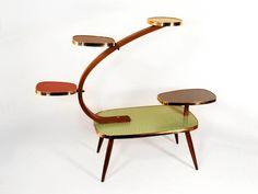 Original 50s Vintage Display German Multicolor Table Plant Stand Mid Century 25 | eBay