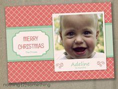 Printable Christmas Card-Vintage Polaroid Custom Baby Photo. $15.00, via Etsy.