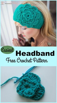 Crochet Headband Easiest Headband Free Crochet Pattern - Crochet headbands are the perfect little accessory that can tie together any outfit. This Headband Free Crochet Pattern is very easy and it works up quickly. Crochet Headband Free, Crochet Headband Pattern, Knitted Headband, Crochet Beanie, Free Crochet, Crocheted Headbands, Crochet Cap, Crochet Ear Warmer Pattern, Easy Crochet Patterns
