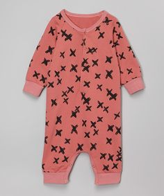 Look what I found on #zulily! Leighton Alexander Coral Cross Harem Romper - Infant by Leighton Alexander #zulilyfinds