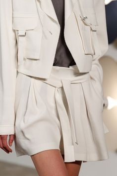See detail photos from the Boss Spring 2017 collection at New York Fashion Week.