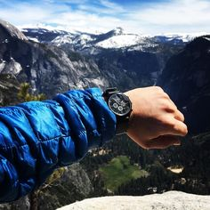 Standing at the top of Yosemite Point. It's hard to describe and the picture doesn't do it justice.   #yosemite #nationalparks #wingmanwatches #hiking #camping #nature #rei #halfdome #northface