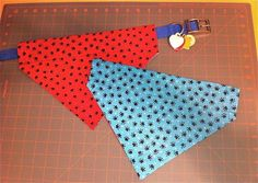 Reversible Over The Collar Dog Bandana · How To Make A Bandana ...