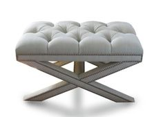 Tufted Wallis Bench MidCentury Modern, Upholstery Fabric, Bench by Steven Gambrel (=) Living Room Upholstery, Upholstery Trim, Furniture Upholstery, Furniture Design, Dark Furniture, Upholstery Cleaner, Bench Furniture, Furniture Styles, X Bench