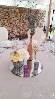 "Celebra tu boda con nosotros en Ibiza/Celebrate your wedding with us in Ibiza. Centro de mesa ""Plus"""