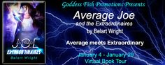 VBT & #GIVEAWAY - Average Joe and the Extraordinaires by Belart Wright - @GoddessFish, #Action, #Adventure, #Fantasy, #Urban, #Young_Adult (January)