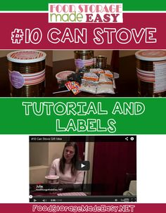 #10 Can Stove Gift Idea - Includes tutorial and cute printable labels!  @Food Storage Made Easy