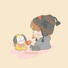 Jimin Fanart, Yoonmin Fanart, Kpop Fanart, Bts Chibi, Anime Chibi, Park Jimin Cute, Kpop Drawings, Foto Jimin, Dibujos Cute