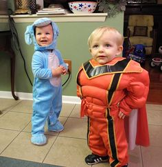 Superhero Jaydon and Blue's Clues Ryley.