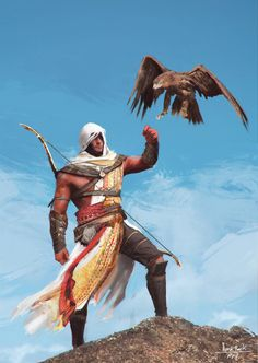 Bayek of Siwa (with Arno Dorian's face?) from Assassin's Creed: Origins by Wert23 Thanks for the reblog/post permission! I thought that in ACO, there would have been certain Helix Rift/Time Anomaly missions setting during Napoleon's Egyptian...
