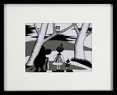 Amazing moomin art at auction, ends May 1st 2016, A chance to pick up an original, one of a kind moomin artwork that will look fantastic on any wall. These are hand drawn cells from the film 'Hur Gick Det Sen?' Each one is unique and sure to appreciate in value, a true collectors piece.