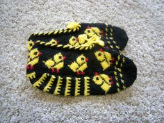 Womens Slippers Girls Slippers RedBlackYellow by missismilena, $20.00
