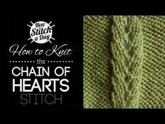 How to Knit the Chain of Hearts Stitch {English Style}