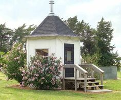 When the cost of adding a fireplace to their home became prohibitive, these savvy DIYers built this enclosed gazebo with a little wood-burning stove they could gather around with their four dogs. |  thisoldhouse.com
