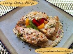 Creamy Chicken Scampi – Low Carb, Gluten Free