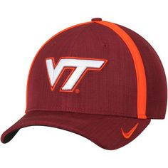 new arrival 24d66 8f06c Men s Nike Maroon Virginia Tech Hokies 2017 Sideline AeroBill Coaches  Performance Adjustable Hat