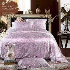 Elegant Demeanour Purple Jacquard Damask Luxury Bedding Damask Bedding, Luxury Bedding, Bedding Sets, Purple Fashion, Jacquard Weave, Shades Of Purple, Duvet Cover Sets, Comforters, Passion