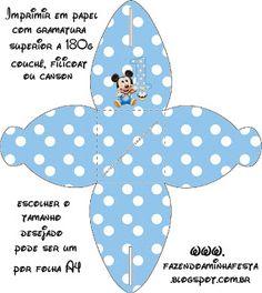 Mickey Baby Azul Poá - Kit Completo com molduras para convites, rótulos para guloseimas, lembrancinhas e imagens! - Fazendo a Nossa Festa