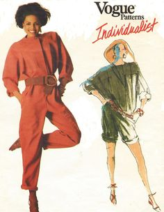 80s Carol Horn Vogue Individualist Sewing Pattern by CloesCloset