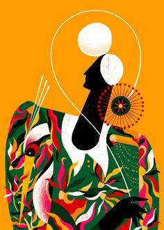 Combining Vibrant Shapes and Simple Lines, Illustrator Willian Santiago Evokes Scenes of Brazil Drawings, Colossal Art, Artwork, Illustration, Art Prints, Simple Illustration, Painting, Framed Art Prints, Art Design