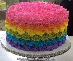 Chocolate and pear crumble cake - HQ Recipes Round Birthday Cakes, Birthday Cake Girls, Bolo My Little Pony, Backen Baby, Bolo Neon, Bolo Moana, Bolos Naked Cake, Rainbow Desserts, Fiesta Cake