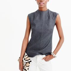 Collection Italian wool mockneck top : j.crew collection | J.Crew