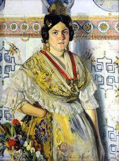 """""""Fallera Valenciana"""" Obra de Fernando Viscaí Albert (1911)"""