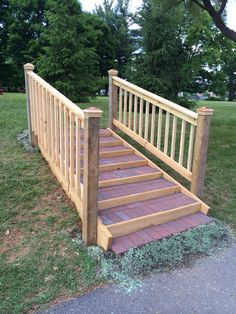 Outdoor Stair Railing, Deck Steps, Outdoor Steps, Driveway Gate, Paver  Sand, Landscape Stairs, Prefab, Deck With Pergola, Wooden Stairs