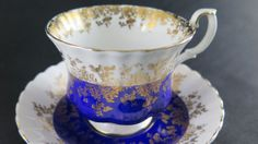 Vintage Royal  Albert  Teacup Regal Series - Vintage Teacup - English Bone China - Blue Teacup