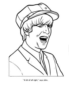 the beatles coloring page 12 - Beatles Coloring Book