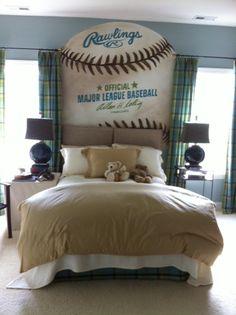 Boys Sports Room Ideas   Boy Teenage Bedroom Ideas with Sports ...