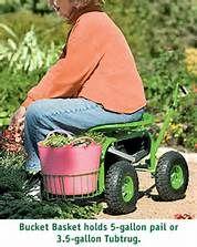 Gorilla Carts Rolling Garden Scooter Home Depot | Garden Carts | Pinterest  | Garden Cart