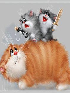 A coleção de animações.  A. Dolotova Cats.
