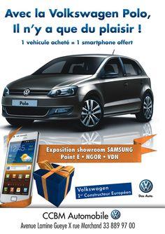 Newsletter de CCBM Automobile pour la promotion de la #Volkswagen #polo avec un #smarphone offert - mars 2013
