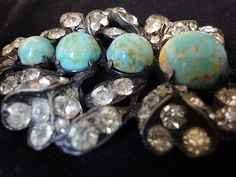 RARE Eisenberg Antique Brooch/Pin with Turquoise