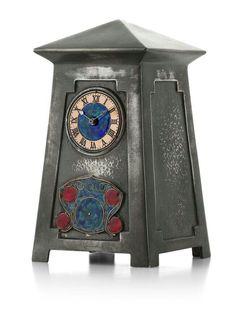 Craftsman Clocks, Craftsman Style, Art Nouveau, Archibald Knox, Cool Clocks, Arts And Crafts House, Clock Art, Wooden Clock, Antique Clocks