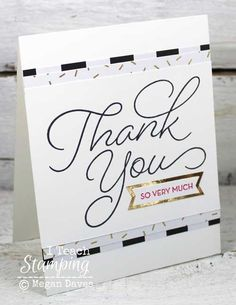 Are you always looking for more card making ideas  and help making easy thank you cards?here:http://iteachstamping.com/2017/01/making-easy-thank-cards/