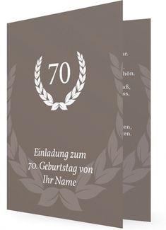 Einladung Geburtstag : Einladung Zum 70 Geburtstag   Geburstag  Einladungskarten   Geburstag Einladungskarten