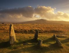 Downsized Image [UK, Devon, Dartmoor, Merrivale Stone Rows Looking Towards Ki. Devon England, Oxford England, Cornwall England, Yorkshire England, Yorkshire Dales, London England, Dartmoor National Park, Beautiful Places, Beautiful World