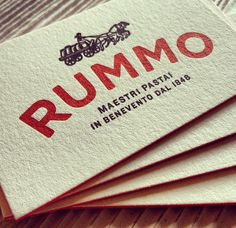 Rummo identity | Irving & Co