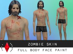 SIms4Krampus' Full Body Zombie Face Paint
