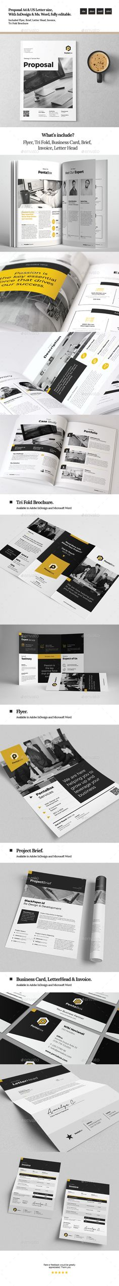 how to create a proposal template in word%0A Sugercube InDesign Proposal Template for Business   Proposal templates   Proposals and Template