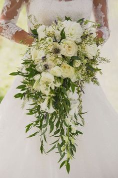 Cascading bridal bouquet fabulous