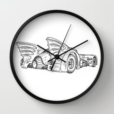 Clock Clock batmobile batmobile Patent Clock by STANLEYprintHOUSE