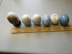 Half Dozen ceramic Eggs Hand painted by IowaRusticTreasures