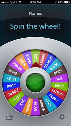 Phone app spinner for the classroom! How cool!