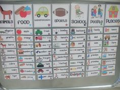 Little Minds at Work: Teacher! How do I spell. I'm loving this magnetized word wall. That way kids can grab a word and take it to their seat for spelling reference. Writing Activities, Classroom Activities, Classroom Organization, Classroom Ideas, Seasonal Classrooms, Language Activities, Writing Ideas, Teaching Reading, Teaching Tools