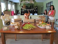 Safari Baby shower food  ~Simple and totally cute