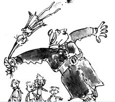 Quentin Blake illustration -Matilda Roald Dahl -Ms trunchball!