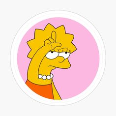 L Lisa Sticker by Aesthetic Drawing, Pink Aesthetic, Lisa Simpson, Bullet Journal Work, Simpsons Tattoo, Homemade Stickers, Wallpaper Iphone Love, Snapchat Stickers, Tumblr Stickers
